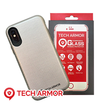 2 Tech Armor iPhone Cases w/ Tempered Glass