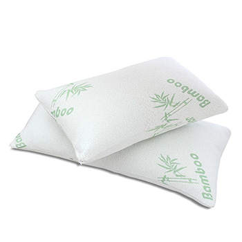 King 2 Pack Bamboo Memory Foam Hypoallergenic Pillow with FREE Shipping!