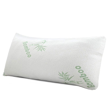 King 1 Pack Bamboo Memory Foam Hypoallergenic Pillow with FREE Shipping!