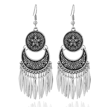 Boho Chandelier Earrings in Tibetan Silver with FREE shipping!