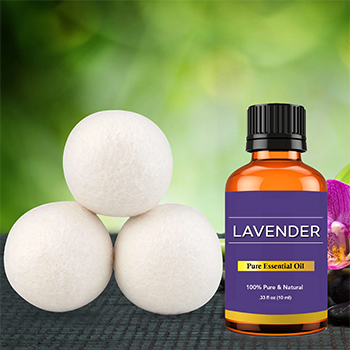Wool Dryer Balls with Two Optional Essential Oils - $14.99 with FREE Shipping!