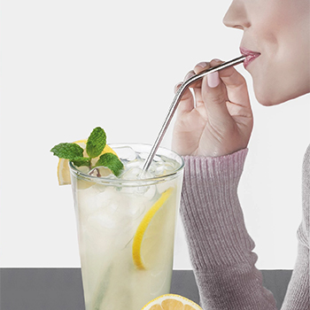 Collapsible, Portable, and Reusable Stainless Steel Drinking Straw with Case - $11.99 with FREE Ship