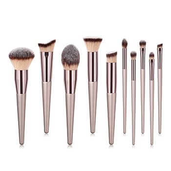 10-Piece: Glow Makeup Brushes - $14.99 with FREE Shipping!