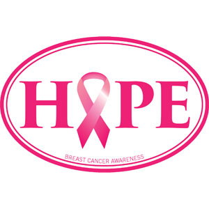 Hope - Breast Cancer Decal