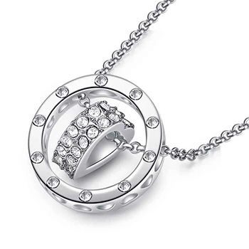 Heart Pendant Necklace Cubic Zirconia & Gold Plated - $24.38 with FREE Shipping!